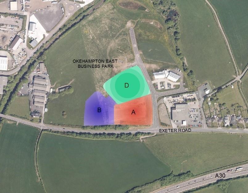 Image of Sites A,<br/> B & D,<br/> Okehampton East Business Park,<br/> Higher Stockley Mead,<br/> Okehampton,<br/> Devon,<br/> EX20 1FJ